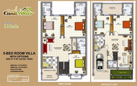 home design 8 marla 5 marla house map 6 marla house plan 5 bedroom house