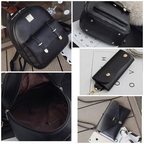 Black Set 3in1 jual b1858 black tas ransel set 3in1 grosirimpor