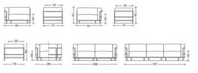 fauteuil lc3 le corbusier canap 233 lc3 le corbusier canap 233