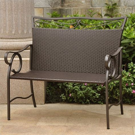 outdoor ls for patio patio garden bench in chocolate 4118 ls ch