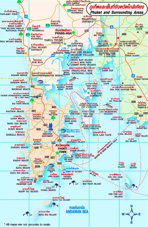 map of and surrounding areas map of phuket and surrounding areas