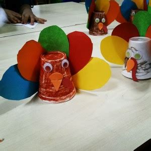Paper Cup Turkey Craft - fall craft idea for crafts and worksheets for