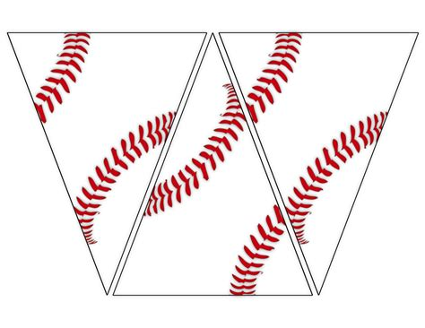 Printable Baseball Party Decorations | free printable baseball banner baseball party decorations
