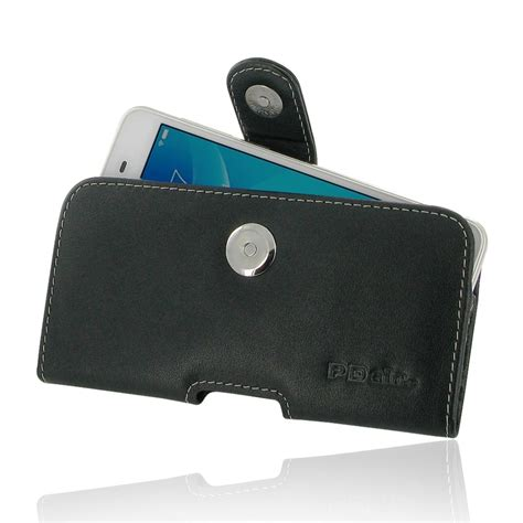Custom For Vivo Y35 Hardcase vivo y35 leather holster belt clip pdair sleeve pouch