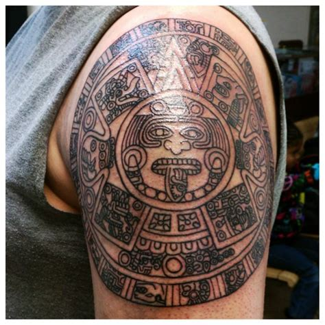 aztec calendar tattoo design aztec tattoos and designs page 49