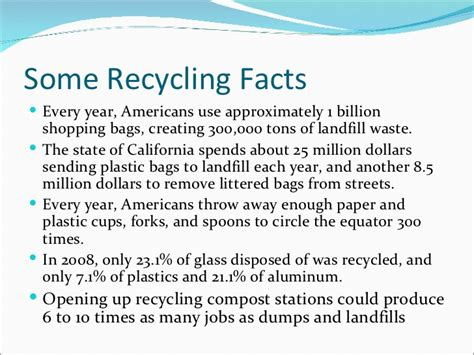Earth Day Facts by Some Recycling Facts Every Year