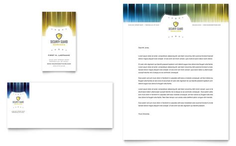 business letterhead templates indesign security guard business card letterhead template design