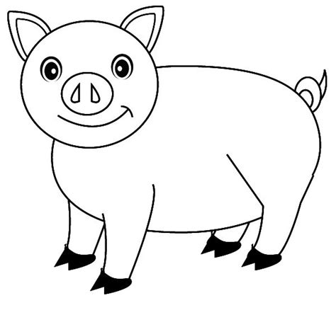 picture of pig coloring page pig coloring pages free printable for kids enjoy