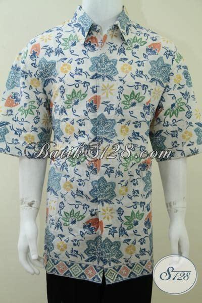 Mukena Batik Agung baju batik pria gemuk besar ukuran xxxl batik cap lengan pendek stylish elegan gaya ld1712cd