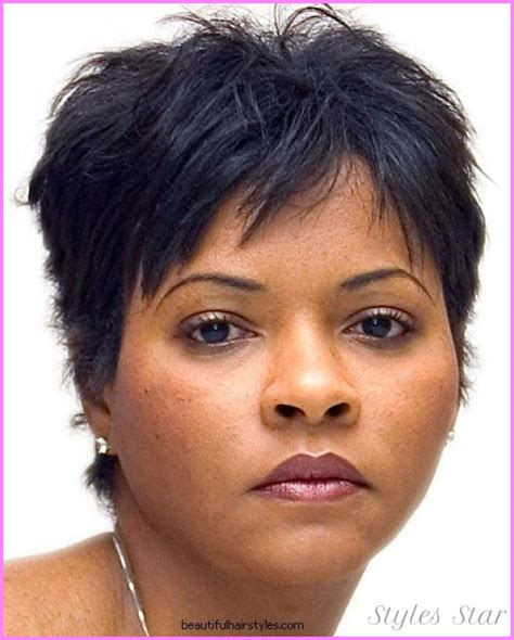 hairstyles for african american women with round face haircuts for round faces black women stylesstar com
