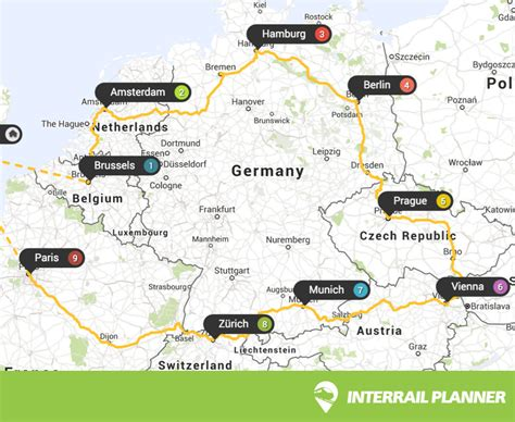 printable route planner uk interrail planner