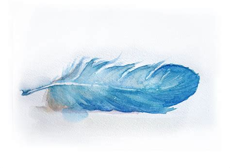 Blue Kitchen Paint Color Ideas by Watercolor Painting Of Feather Feather Painting Watercolor
