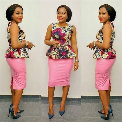 simple ankara styles top  skirt combinations ankara