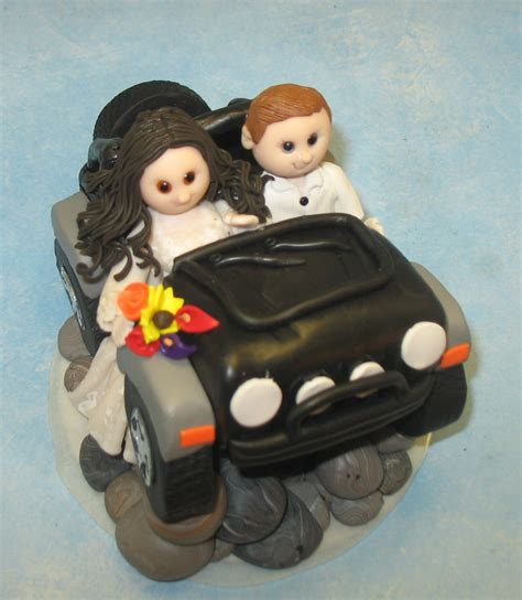 jeep cake topper custom wedding cake topper jeep rock by mandmclaycreations