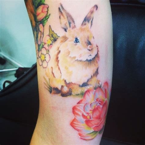watercolor tattoo df bunny watercolor by chris hornsby tattoos by