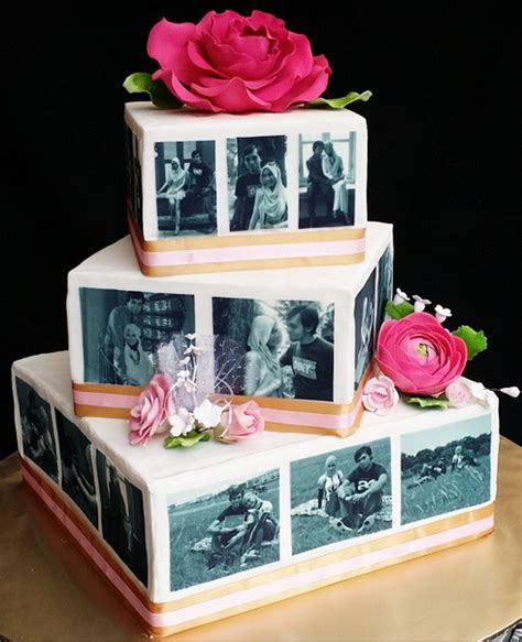 Wedding Cakes With Photos On Them by Wedding Cake Ourstoryimmortalised