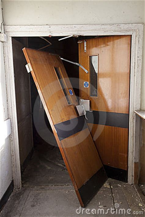 broken door stock photography image