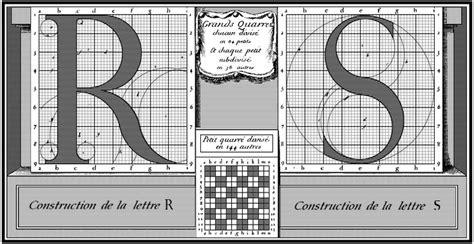 tipe layout proses le romain du roi construction des lettres r et s