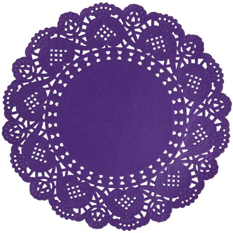 Paper Doilies - floral lace paper doilies 25pcs 6 5 quot purple