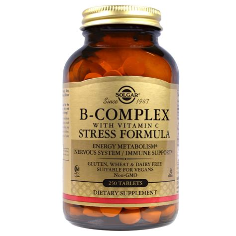 b complex supplement solgar b complex with vitamin c stress formula 250