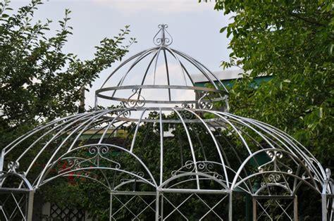 gartenpavillon rund metall gartenpavillon metall romantik zink 216 290cm