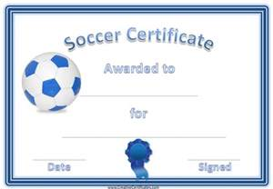 Soccer Certificate Template Free by Soccer Award Certificate Template Customize