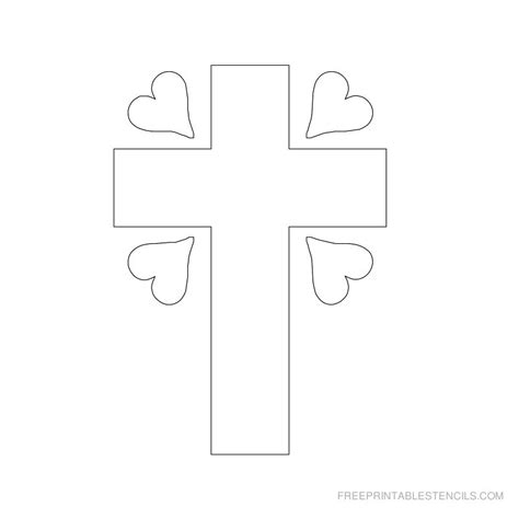 printable cross stencils printable cross stencils and hearts free printable stencils