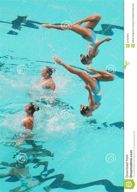 synchronized swimming editorial stock image image
