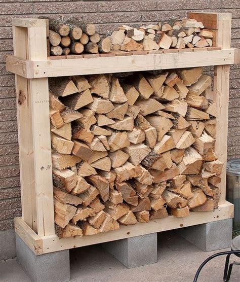 build firewood rack cheap easy diy outdoor firewood racks