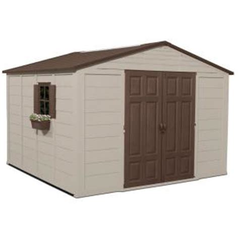 Home Depot Plastic Sheds by Suncast 10 Ft 4 In X 10 Ft 5 In Resin Storage Shed
