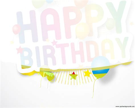happy birthday powerpoint template poweredtemplatecom