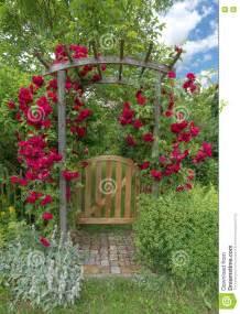 Garden Arch Door Garden Door With Arch Stock Photo Image 73582066