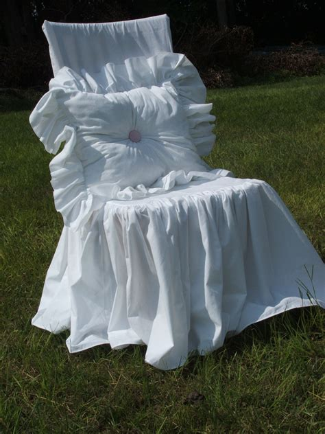 shabby chic chair slipcovers shabby chic chair slipcover by mythymecreations on etsy
