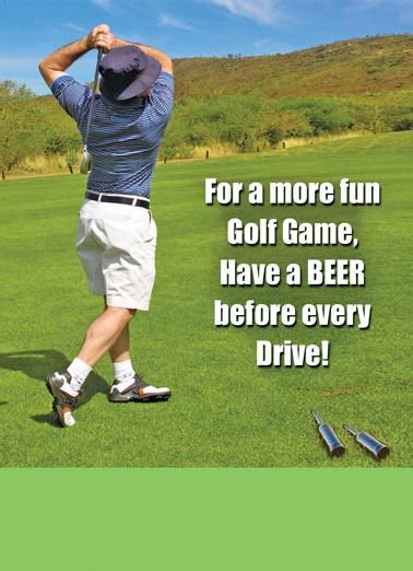 funny happy birthday golf funny father s day cards golf cardfool free postage