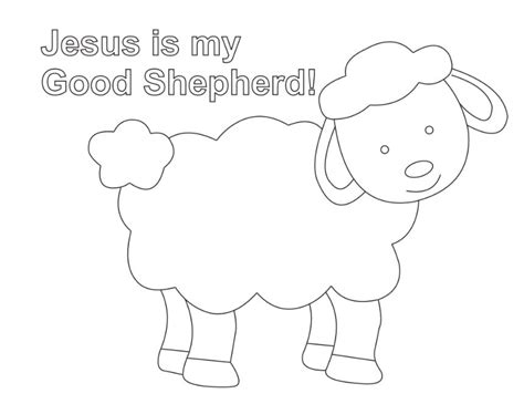 shepherd and sheep coloring page lesson five the good