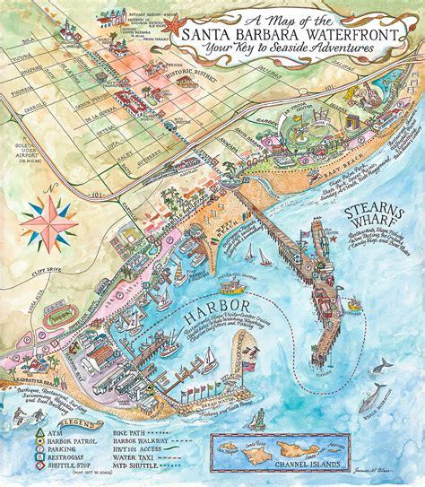 santa map santa barbara map world map