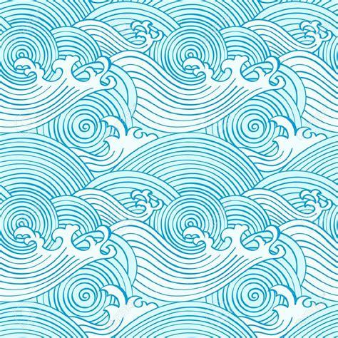 japanese pattern wave japanese seamless waves pattern in ocean colors royalty
