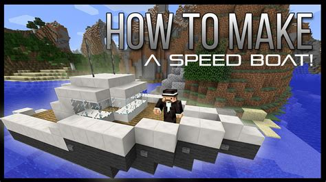 how to make a speed boat in minecraft easy youtube - How To Make A Speed Boat In Minecraft Pe
