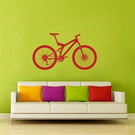 Wall Sticker Bicycle bicycle wall decal wall decal world