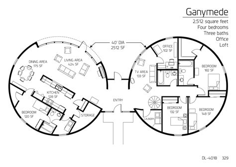 monolithic dome homes floor plans floor plan dl 4018 monolithic dome institute