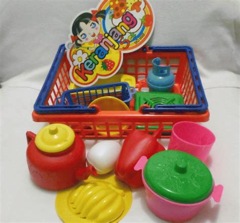 Keranjang Mainan jual keranjang set mainan alat masak lapak mainan
