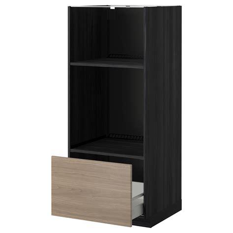 gloss black wardrobes maxim high metod maximera high cab for oven micro w drawer black