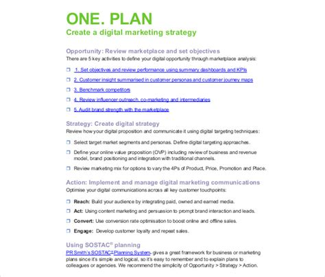 digital business plan template digital marketing strategy template 11 word excel pdf