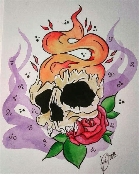 new tattoo vitamin e skull new school tattoo new school pinterest