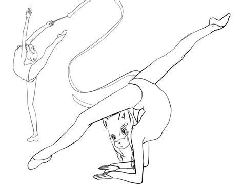 coloring pages gymnastics gymnastics pictures for kids 1230956 gymnastics coloring