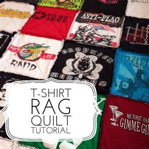 t shirt rag quilt tutorial quilting in the