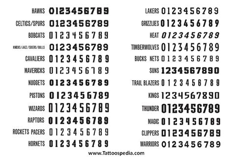 number tattoo fonts cool number fonts 1