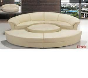 Circular Sectional Sofa Dreamfurniture Divani Casa Circle Modern Leather Circular Sectional 5 Sofa Set