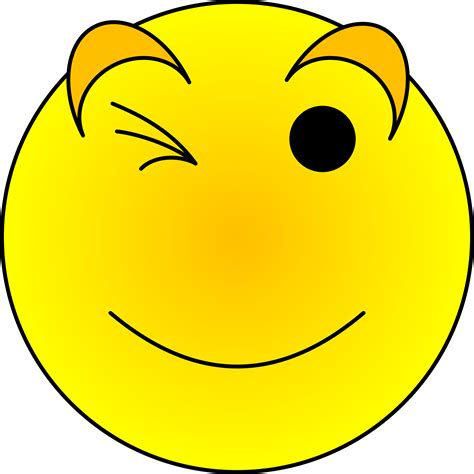 smiley clipart free wink smiley