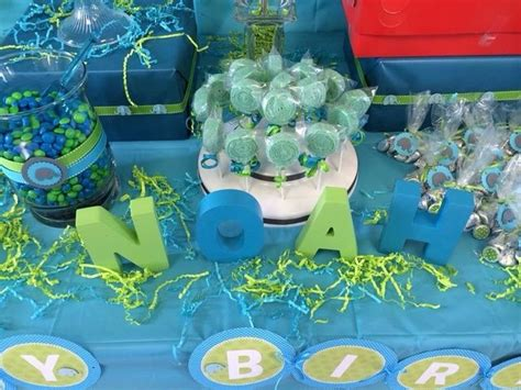 blue  green st birthday party   party ideas
